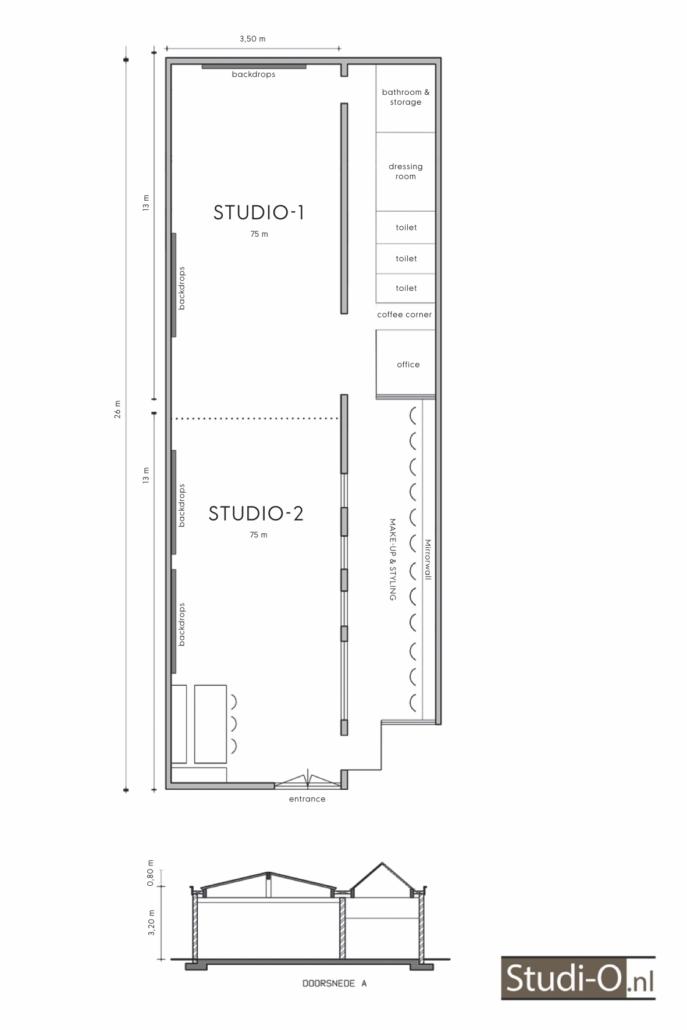 plattegrond studio